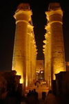 The central corridor of the Luxor temple